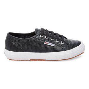 Superga Black Leather Sneaker 38